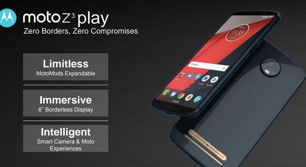 Moto Z3 Play diseño y algunas características