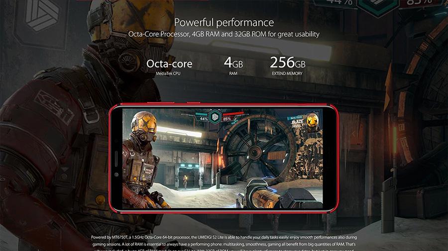 UMIDIGI S2 Lite características procesador RAM y memoria
