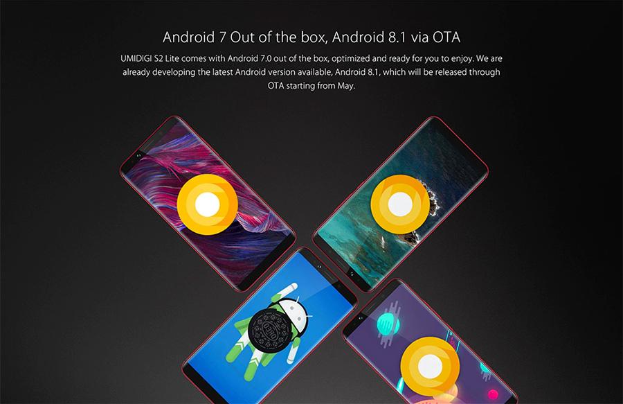 UMIDIGI S2 Lite con actualización a Android 8 Oreo