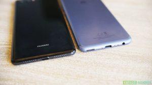 Huawei P20 prototipo abajo