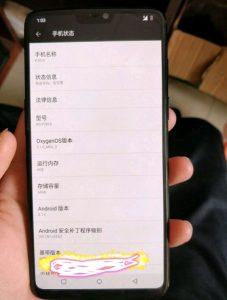 OnePlus 6 frente