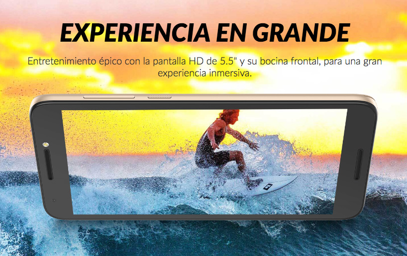 Alcatel A3 Plus 3G en México pantalla amplia HD