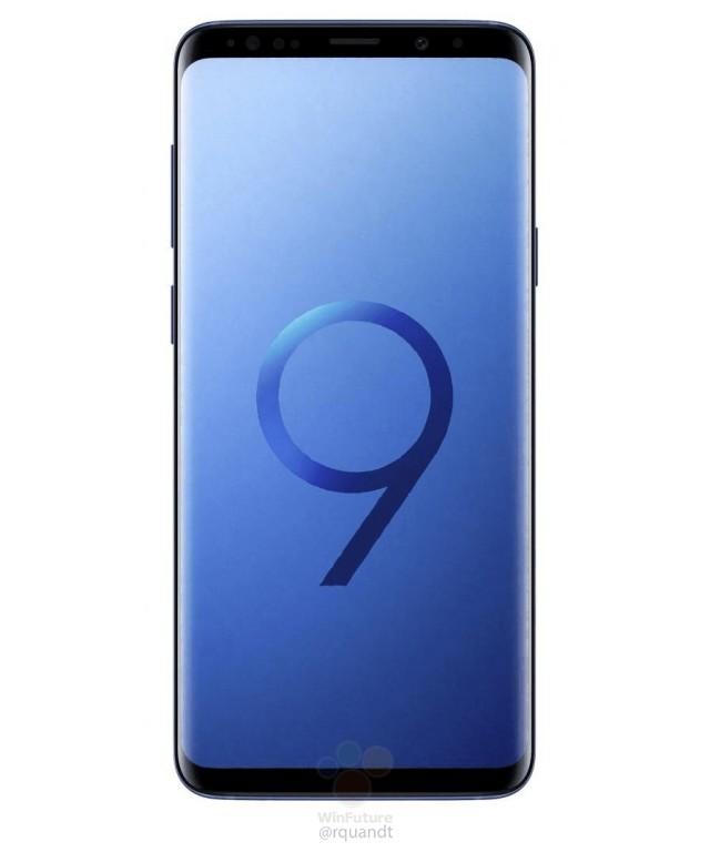 Samsung Galaxy S9+ render filtrado color azul