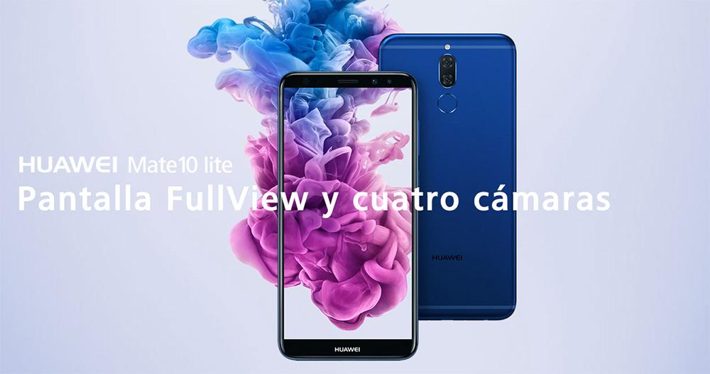 Huawei Mate 10 Lite en México Fullview y cuatro cámaras