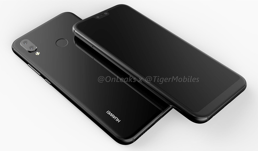 Huawei P20 Lite con pantalla tipo iPhone X