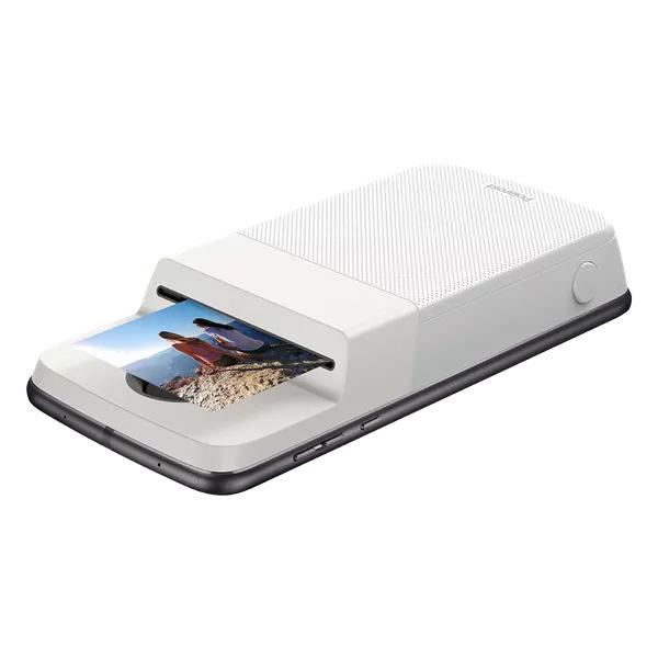 Moto Mod Insta-Share Polaroid imprimiendo fotografía
