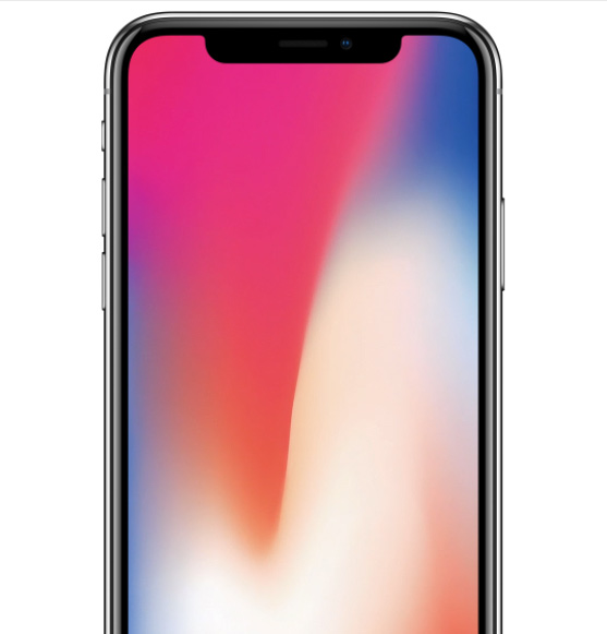 iPhone X con notch