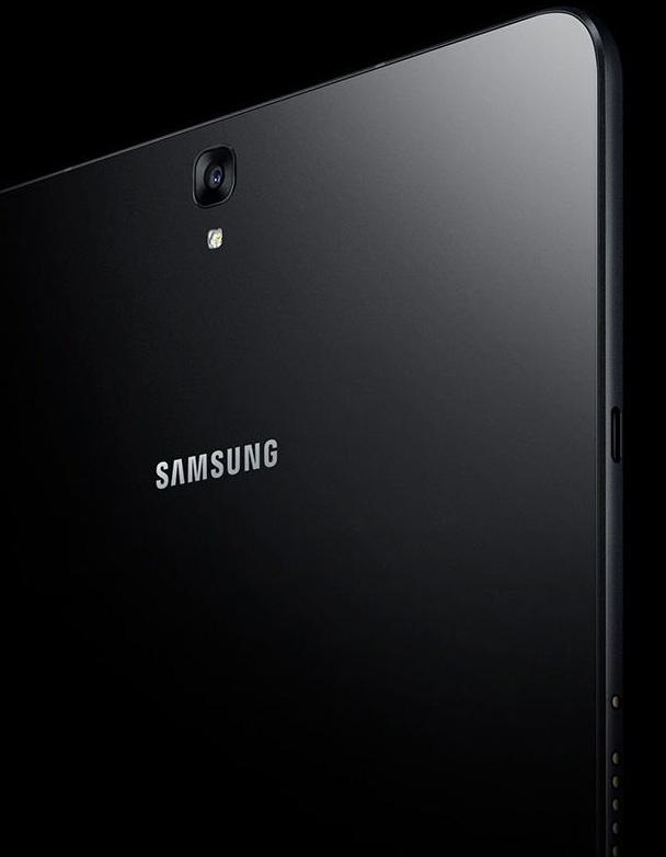 Samsung Galaxy Tab S3 diseño de cristal