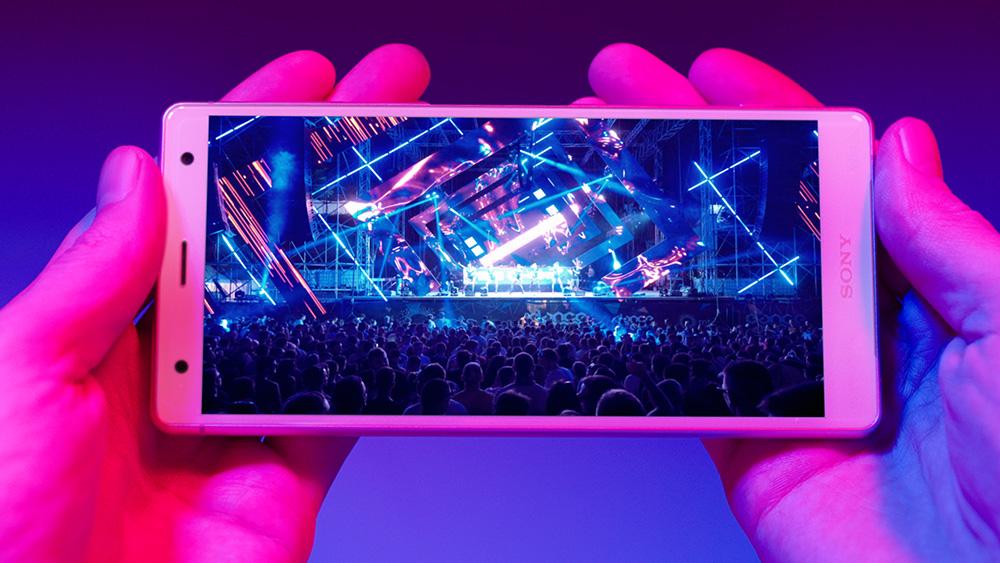 Sony Xperia XZ2 HDR en concierto