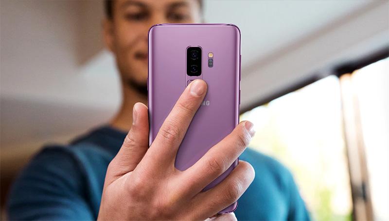 Samsung Galaxy S9 color morado para México - cámara posterior con lector de huellas