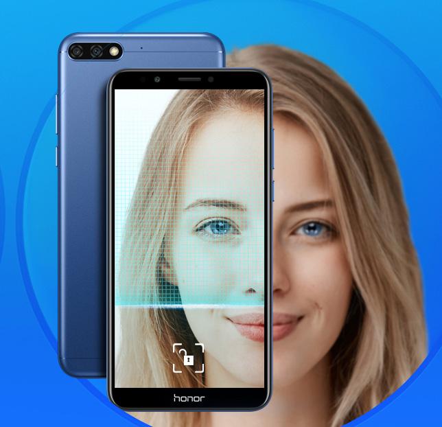 Honor 7C con desbloqueo con rosto - face unlock