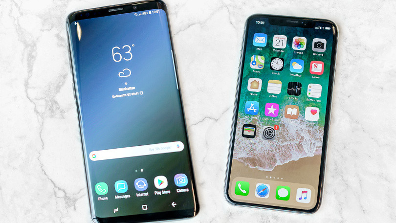 iPhone X vs Galaxy S9