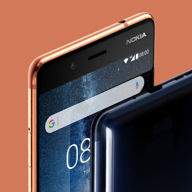 Nokia 8 con Android Oreo acercamiento