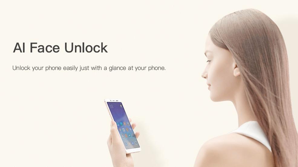 Xiaomi Redmi Note 5 Desbloqueo mediante el reconocimiento de cara