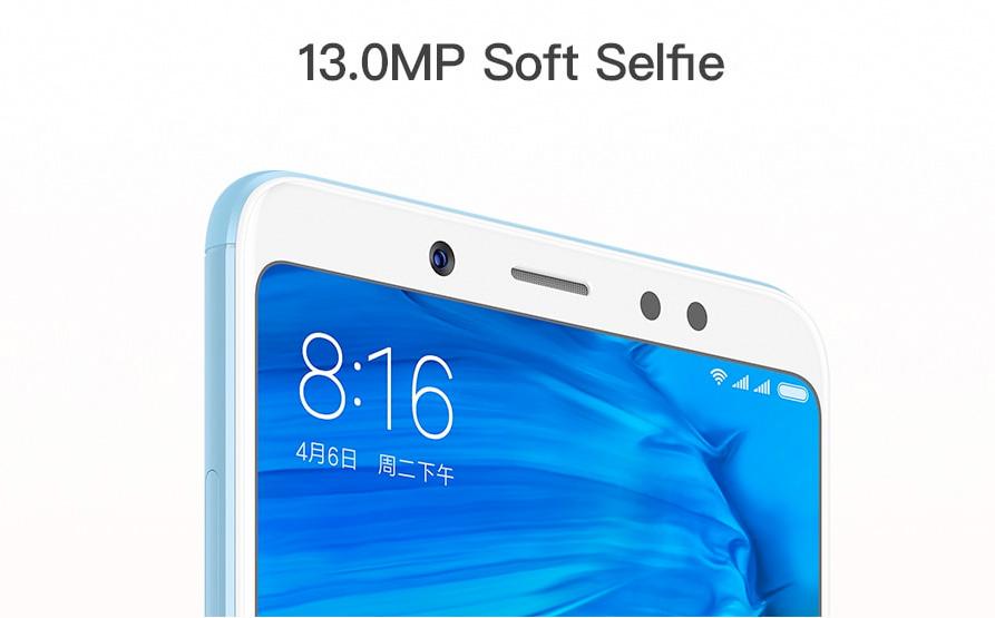 Xiaomi Redmi Note 5 13 Megapixeles en cámara frontal