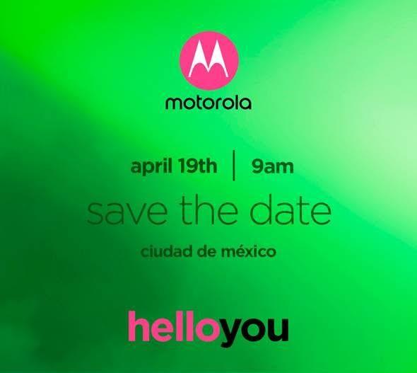 Motorola Moto G6 invitación