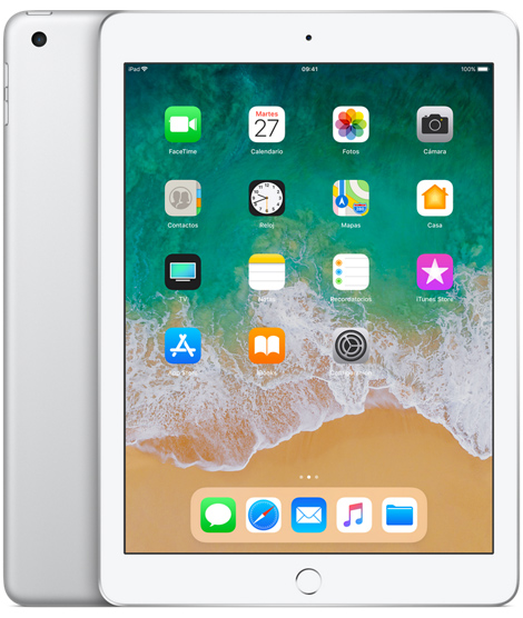 Apple iPad 9.7 2018 con Apple Pencil en México color plata