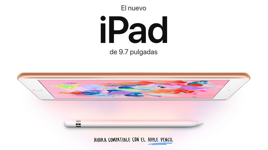 Apple iPad 9.7 2018 con Apple Pencil en México