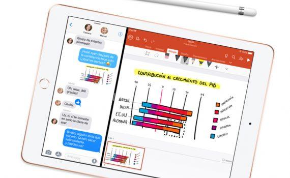Apple iPad 9.7 2018 con Apple Pencil editando PowerPoint