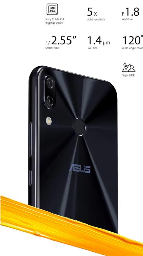 ASUS Zenfon 5 cámara posterior dual inteligente
