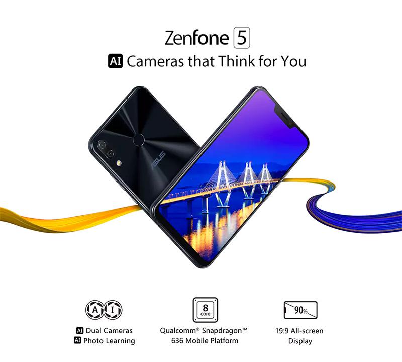 ASUS Zenfon 5 cámara posterior dual inteligente y pantalla increíble de alta resolución