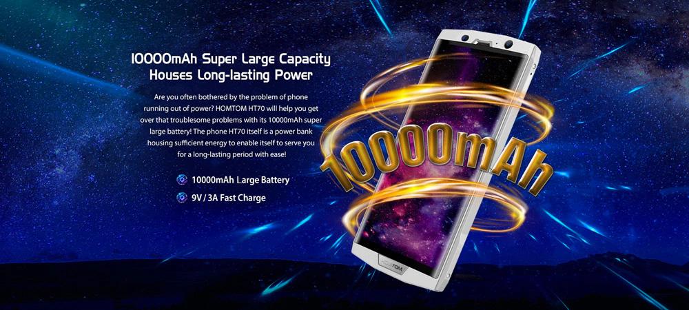 HOMTOM HT70 4G con batería de 10,000 mAh de gran duración