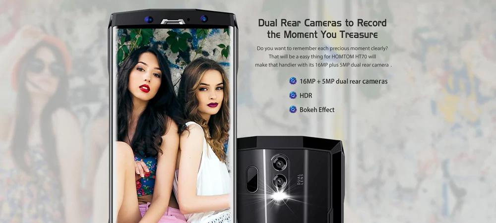 HOMTOM HT70 4G - Cámara Dual posterior y frontal selfie de 13 MP