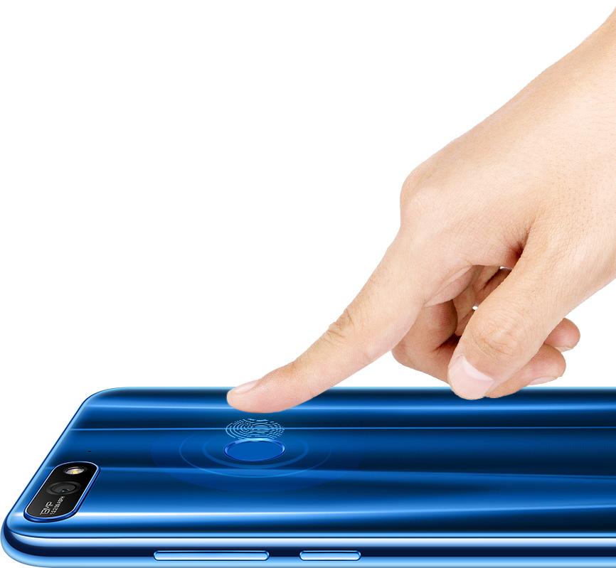 Huawei Y7 2018 con lector de huellas