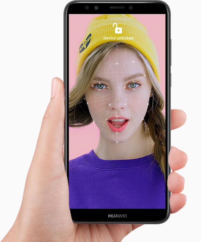Huawei Y7 2018 desbloqueo facial