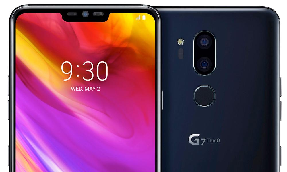 LG G7 ThinQ foto oficial mostrando pantalla tipo notch