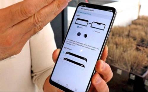 LG G7 ThinQ opciones de pantalla notch para esconderlo y mostrar esquinas redondas