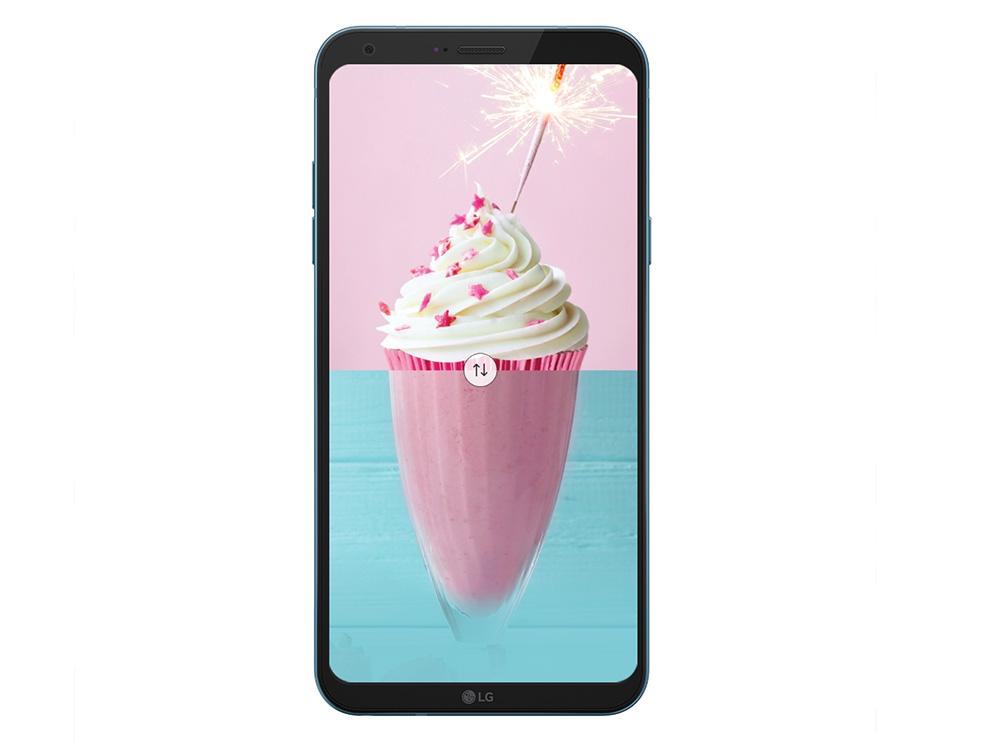 LG Q6 Alpha M700H pantalla FHD a 18:9 con esquinas redondeadas