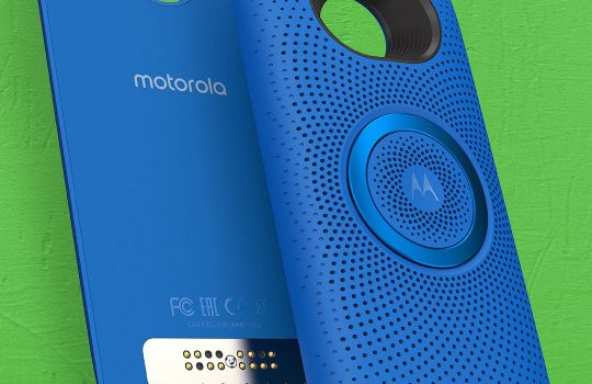 Moto Stereo Speaker de Motorola color azul