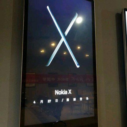 Nokia X 2018, póster publicitario de presentación