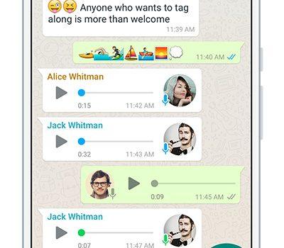 WhatsApp mensaje de audio
