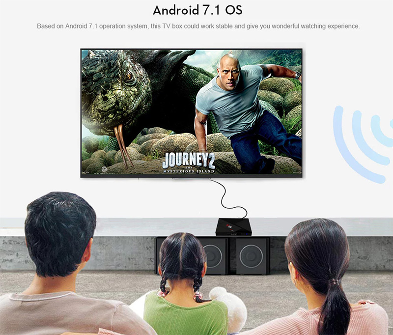 X99 Android TV Box viendo película