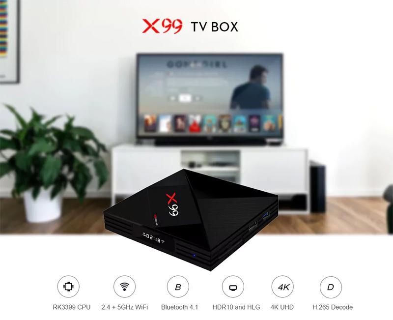 X99 Android TV Box características