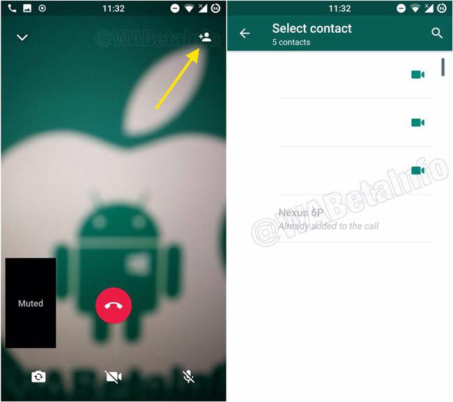 Videollamada grupal en WhatsApp para Android