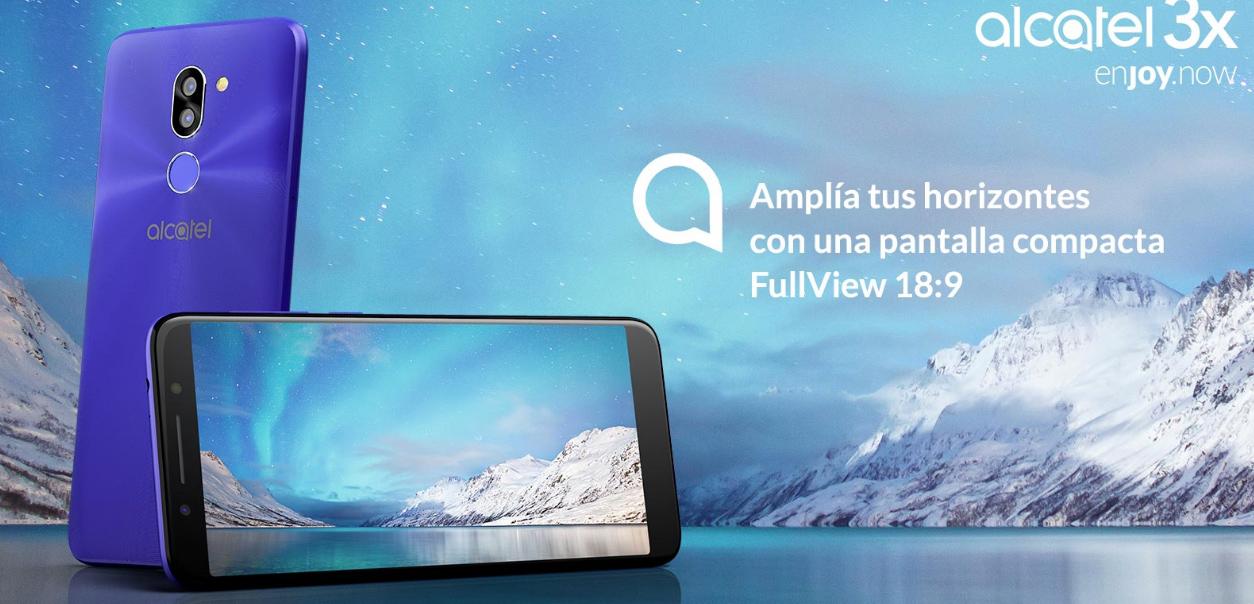 Alcatel 3X en México con Telcel - pantalla a 18:9 FullView