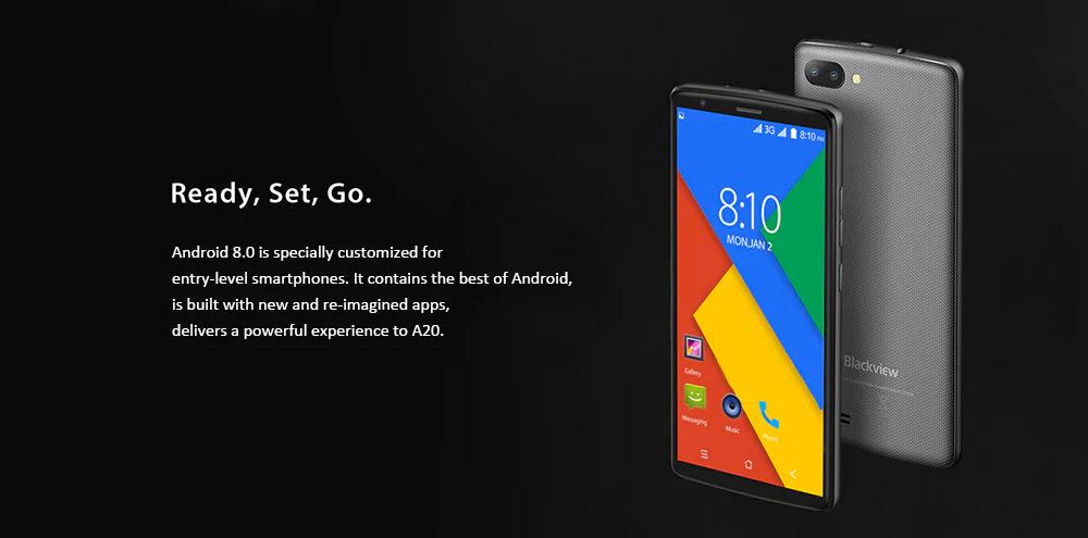 Blackview A20 un smartphone accesible con Android 8.0