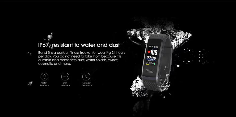 Elephone Band 5 resistente al agua y polvo IP67