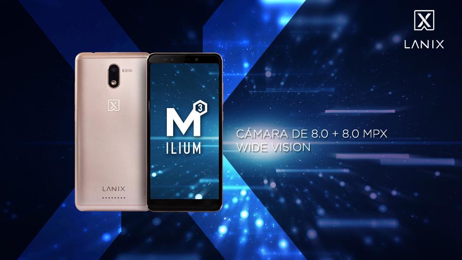 Lanix Ilium M3 cámaras de 8 MP con Flash LED