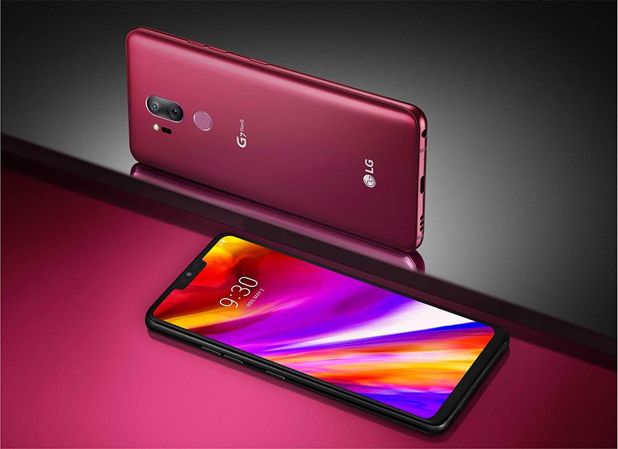 LG G7 ThinQ en color rojo cereza
