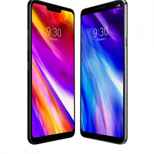 LG G7 ThinQ en color negro pantalla con notch con resolución impresionante QuadHD+