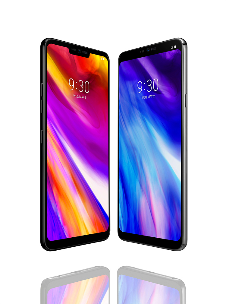 LG G7 ThinQ en color negro pantalla con notch con resolución impresionante QuadHD+