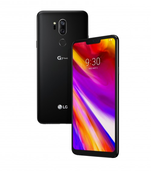 LG G7 ThinQ color negro pantalla y cámara