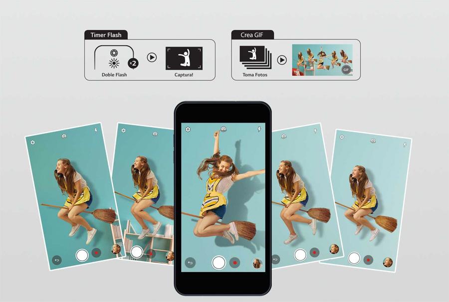 LG K9 (K8 2018) en México cámara con la opción de crear GIF animados