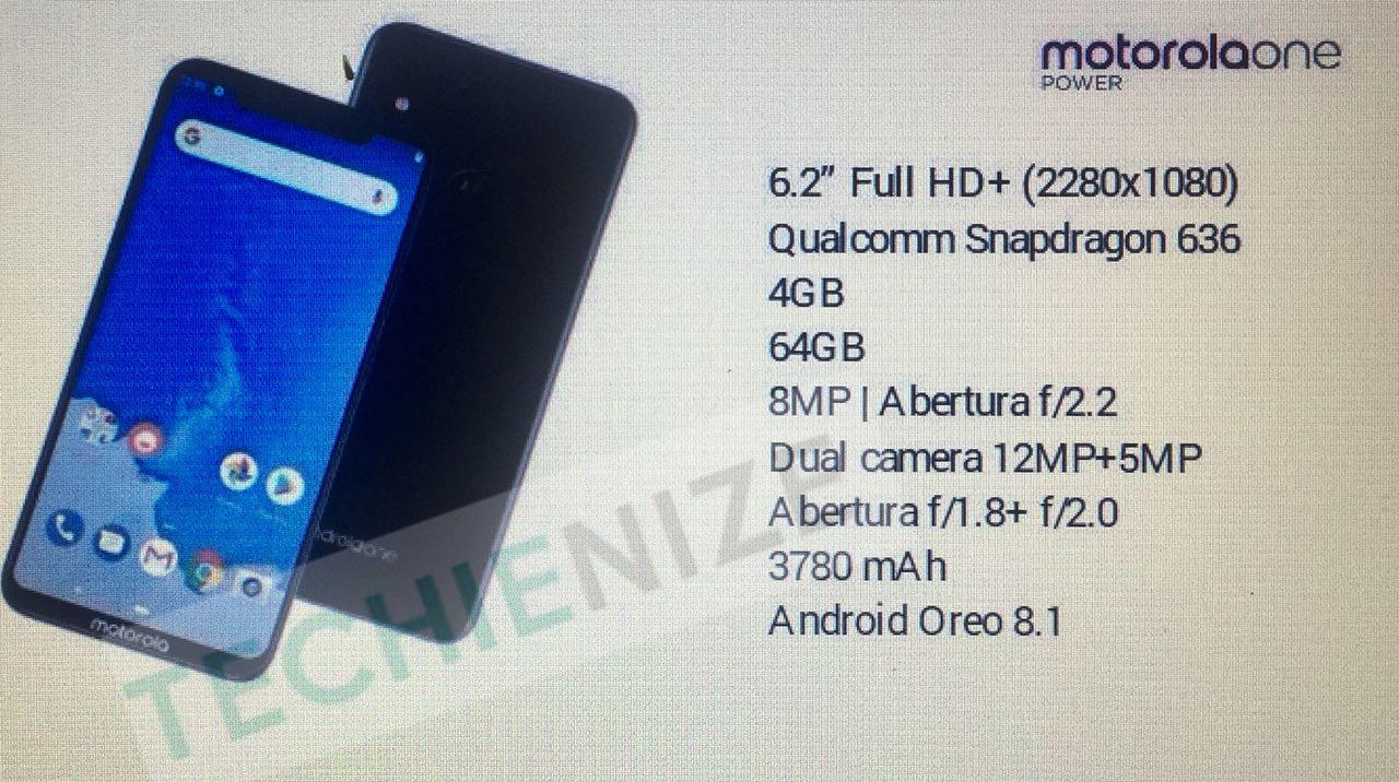 Motorola One Power especificaciones