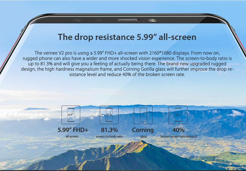 Vernee V2 Pro con IP68 con pantalla de 5.9 pulgadas
