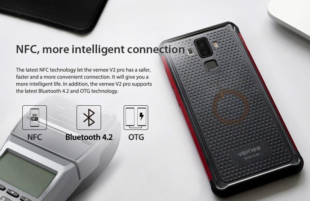Vernee V2 Pro con NFC para hacer pagos
